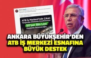 Ankara Büyükşehir Belediyesi'nden ATB İş...