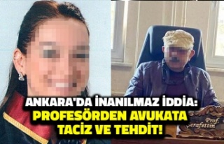 Ankara'da İnanılmaz Olay: Profesörden Avukata...