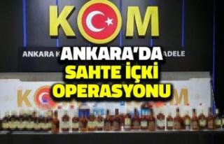 Ankara'da Sahte İçki Operasyonu: 12 Gözaltı