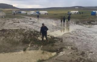 Ankara'da Tarım İşçilerinin Çadırları...