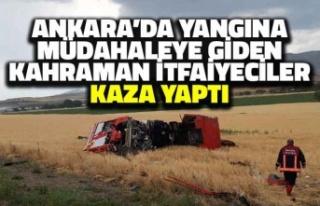 Ankara'da Yangına Müdahaleye Giden Kahraman...