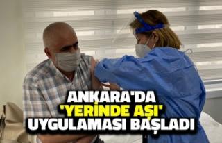 Ankara'da 'Yerinde Aşı' Uygulaması...