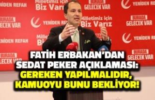 Fatih Erbakan'dan 'Sedat Peker' Çağrısı:...