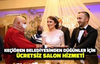 Keçiören Belediyesinden Düğünler için Ücretsiz...