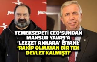 Yemeksepeti CEO'sundan Mansur Yavaş'a Lezzet...