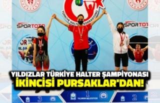 Yıldızlar Türkiye Halter Şampiyonası İkincisi...