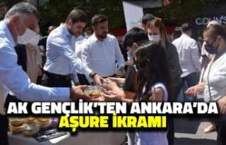 AK Gençlik'ten Ankara'da Aşure İkramı
