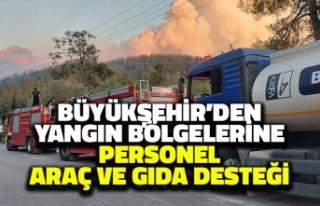 Ankara Büyükşehir'den Yangın Bölgelerine...