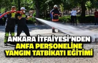 Ankara İtfaiyesi'nden ANFA Personeline Yangın...