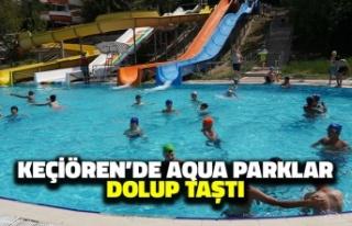 Keçiören'de Aqua Parklar Dolup Taştı