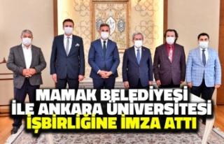 Mamak Belediyesi ile Ankara Üniversitesi'nden...