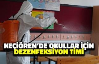 Keçiören'de Okullar için Dezenfeksiyon Timi