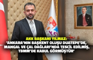 AKK Başkanı Halil İbrahim Yılmaz'dan Ankara'nın...