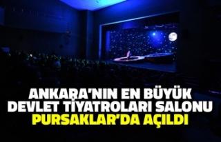 Ankara'nın En Büyük Devlet Tiyatroları Salonu...