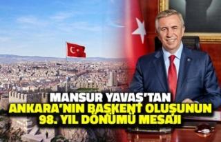 Mansur Yavaş'tan Ankara'nın Başkent Oluşunun...