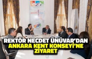 Rektör Necdet Ünüvar'dan Ankara Kent Konseyi'ne...
