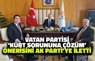 Vatan Partisi 'Kürt Sorununa Çözüm'...