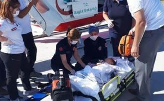 Üzerine Televizyon Düşen Bebek Helikopterle Ankara'ya Getirildi