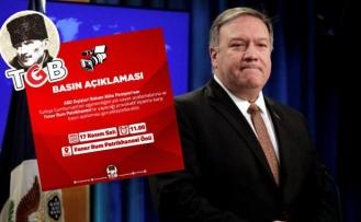 TGB, ABD Dışişleri Bakanı Pompeo'yu Karşılayacak!