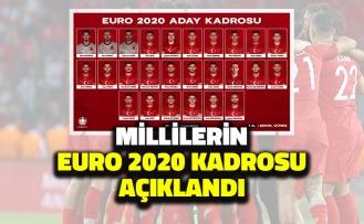 A Milli Takım'ın Euro 2020 Kadrosu Açıklandı