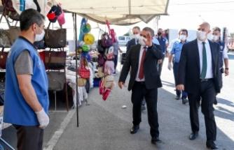 Sincan'da Başkan Murat Ercan'dan Koronavirüs Denetimi