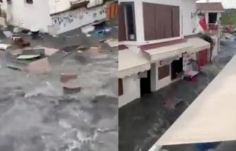İzmir'de Deprem Sonrası Tsunami: 1 Metre Deniz Suyu!