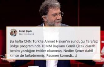 Ahmet Hakan'ın Programında Cemil Çiçek Sanarak Başkasının Tweeti Okundu