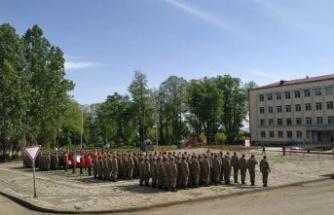 Azerbaycan Ordusundan Mehter Marşlı Kutlama