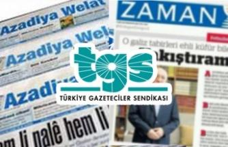 TGS FETÖ ve PKK'lıları Örnek Göstererek 'Basın Özgürlüğü Yok' Dedi!