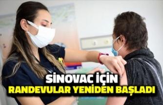 Sinovac için Yeniden Randevu Verilmeye Başlandı