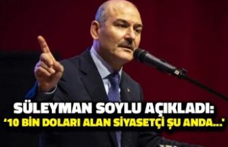Süleyman Soylu Açıkladı: '10 Bin Doları Alan Siyasetçi Şu Anda...'