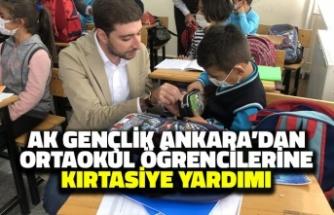 AK Gençlik Ankara'dan Ortaokul Öğrencilerine Kırtasiye Yardımı