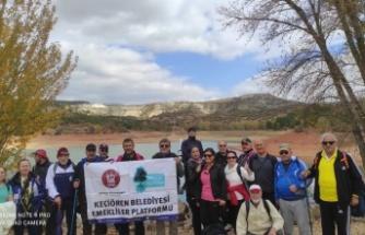 Keçiören'de Emekliler Doğa Yürüyüşüne Çıktı