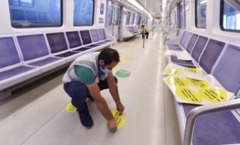 Ankara'da Toplu Taşıma Araçlarında Sosyal Mesafe Uygulaması