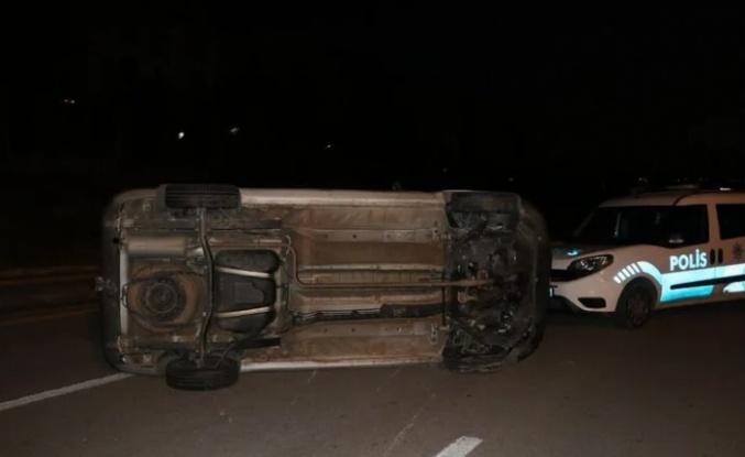 Ankara'da Alkollü Sürücünün Kullandığı Araç Takla Attı