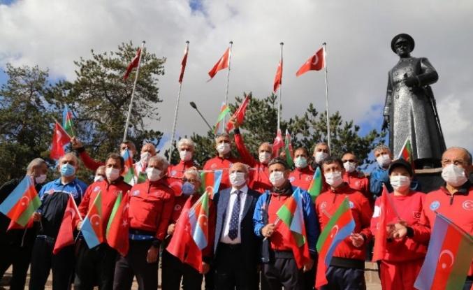 Erzurum'da Türkiye-Azerbaycan Dostluk Yürüyüşü Düzenlendi