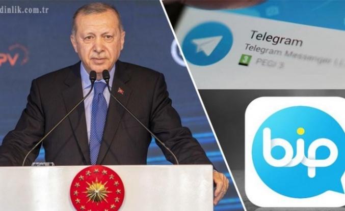 Cumhurbaşkanı Erdoğan, Telegram ve BİP'te Günlük Mesaisini Paylaştı