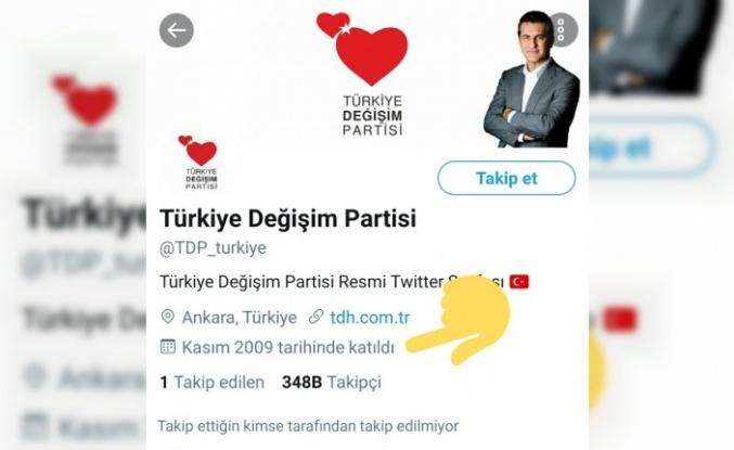 Türkiye Değişim Partisi'nin Twitter Hesabı 'Hack' Çıktı!