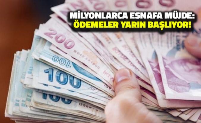 Milyonlarca Esnafa Müjde: Ödemeleri Yarın Başlıyor