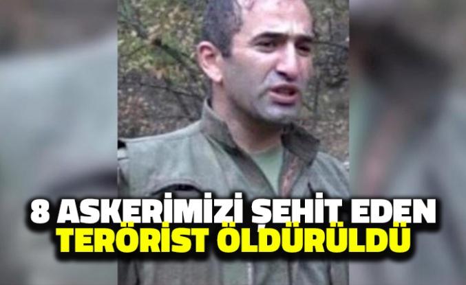 8 Askerimizi Şehit Eden Terörist Öldürüldü